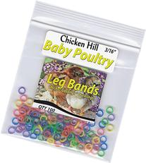 "100 Baby Poultry Leg Bands 3/16"" Small Chick"