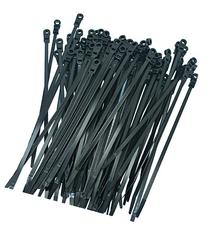 100 PERFECT VISION BLACK MOUNTING HOLE CABLE TIE ZIP WRAPS 7