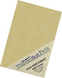 "100 Gold Parchment 65lb Cover Weight Paper - 5"" X 7""  Photo
