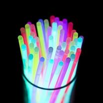 "Etekcity 100 8"" Glow Sticks Lights Bracelets Necklaces Party"