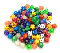 100+ Pack of Random D12 Polyhedral Dice in Multiple Colors