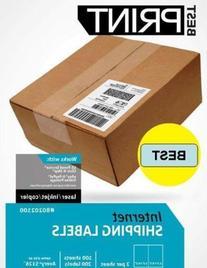 "1000 Half Sheet - Best Print Shipping Labels - 5-1/2"" x 8-1/"