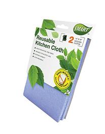 Smart 10034 Reusable Kitchen Cleaning Cloth, 14X10-Inch, 2-