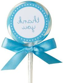 Wilton 1006-2978 Blue-White Lollipop Favor Kit, 24 Count