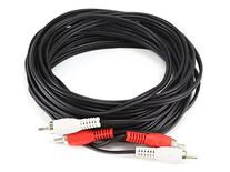 Monoprice 102009 25' 2 RCA Plug/2 RCA Plug M/M Cable, Black