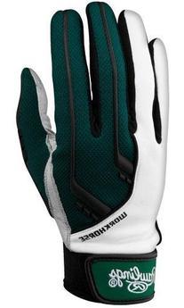Rawlings 1050 Workhorse Batting Gloves, Dark Green, Small
