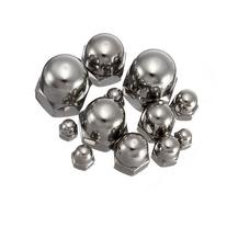 10pcs Stainless Steel Dome Nuts Head Cap Nuts M4 M5 M6 M8