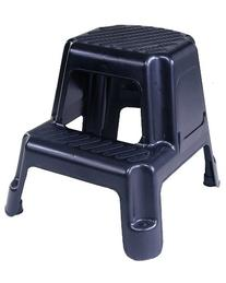 Cosco 11-911BLK Two-Step Molded Step Stool, Black