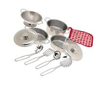 11 Piece Stainless Steel Cookware Set - Pots, Pans, Lids,