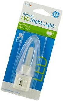 GE 11140 LED with Manual On/Off Plastic Night Light