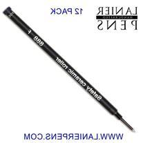 12 Pack - Schmidt 888 Black Fine Rollerball Refill