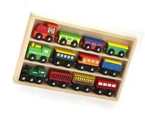 12 Pcs Wooden Engines & Train Cars Collection fits Thomas,