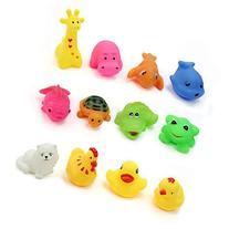12 Pcs/lot Mixed Different Animal Bath Toys Children Washing