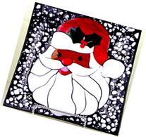 African-American Santa Cookie Decorative Tray Handcrafted