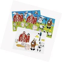 ~ 12 ~ Make-a- Farm / Barnyard Sticker Sheets ~ 252 Stickers