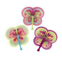 12 Butterfly Shaped Folding Fans