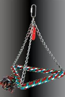 Paradise 12-Cotton Triangle Pet Swing, Large