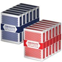 12 Decks  Wide-Size, Regular Index Playing Cards Set –