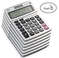 12 Digit Dual Powered Desktop Calculator, Tilted LCD