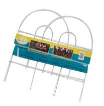 """ea Panacea Products 89313 18""""H x 8' Long, White Metal Arch"""