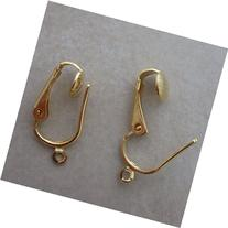 12 Gold Plated Pierced Look Clip on Ear Converters Earclips