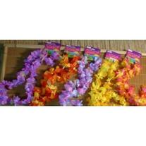 Fun Express 12 Hawaiian Ruffled Simulated Silk Flower Leis