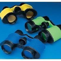 12 Plastic Kids Binoculars, Asst Colors, Party Favors,