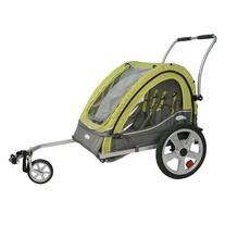 InSTEP 12-QL234 Double Sierra Bicycle Trailer in Green/Gray