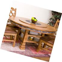 "Sunny Designs 1225RO Sedona 60"" Round Table with Lazy Susan"