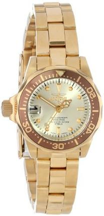 Invicta Women's 12527 Pro-Diver 18k Gold Ion-Plated