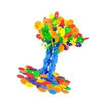 128 Kid Baby Multicolor Building Block Snowflake Creative