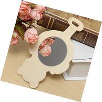 13*8CM Clean Wooden Mirror Creative Toys For Children Kids