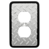 Franklin Brass 135859 Diamond Plate Single Duplex Outlet