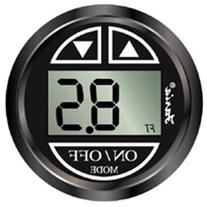 Faria 13751 Chesapeake Black Depth Sounder with In-Hull