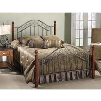 Hillsdale Furniture 1392BQ Martino Bed Set, Queen, Smoke
