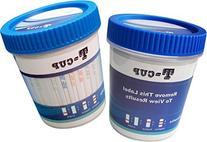 14 Panel T-Cup Multi Drug Urine Test Kit With Adulterants