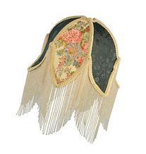 "Meyda Tiffany 14425 Fabric & Fringe Tulip Lamp Shade, 11.5"""