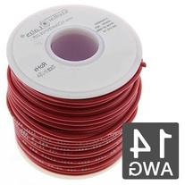 14AWG Automotive Primary Wire 50' - 19x27 Strand - Red
