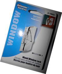 15-Defender Security Wood Window Locks Stainless Steel 2- in