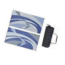 Reversible Mats 159183 BlueBlackGrey 9x18 RV Patio Mat