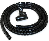 15mm*50M Meta-Cable Spiral Binding - Black Cable Tidy Wrap