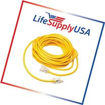 25Ft 16/3 125V SJT Extension Cord Lighted End Prong for