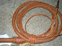 6 Foot 16 Plait TAN Real Leather BULLWHIP BULL WHIPS