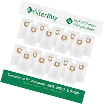 FilterBuy 18 Kenmore Type C 5055, 50557 and 50558 Allergen