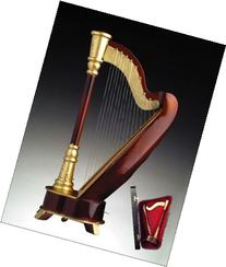 """18 Note 9.5"""" Wooden Harp Musical Instrument Music Box Plays"""