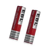 EBL 18650 3.7V 3000mAh Li-ion Rechargeable Batteries, 2 Pack