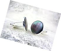 18mm White Mother of Pearl or Black Tahiti Pearl Cuff Links