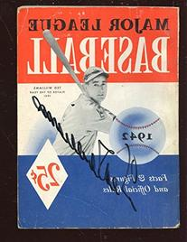 1942 Whitman ML Baseball Soft Cover Book Autographed by Ted