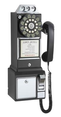 Crosley 1950's Pay Phone Black