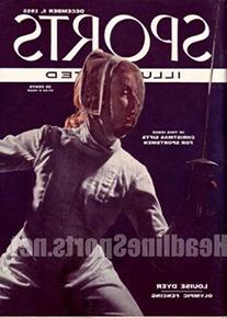 1955 Louise Dyer Olympic Fencing No Label Sports Illustrated